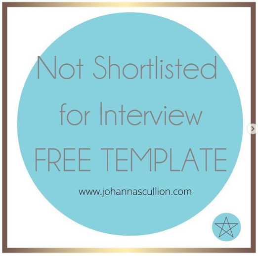 Not Shortlisted For Interview Free Template